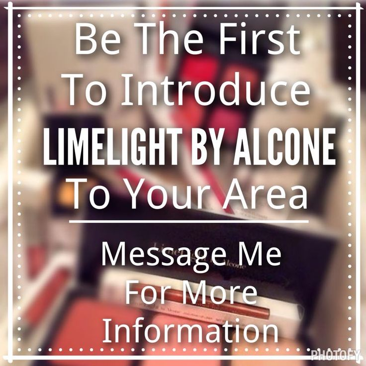 Be the first in your area to Sell LimeLight By Alcone Makeup and All Natural Skincare. Emma Gibbs LimeLight by Alcone Independent Beauty Guide