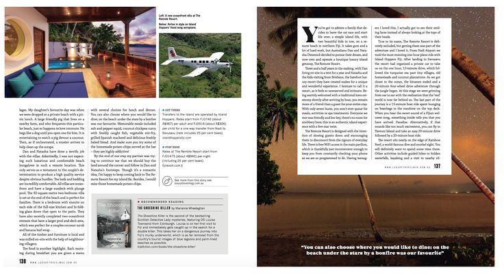 Featured in Luxury Travel Magazine, Australia