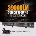 "4D 36""INCH 390W CREE LED LIGHT BAR FLOOD SPOT COMBO OFFROAD TRUCK 4WD PK OSRAM"
