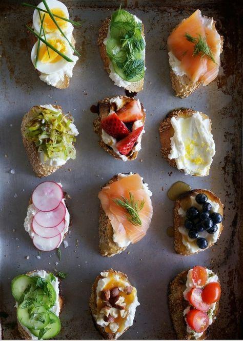 Le tartine e i Finger Food per Antipasto e Aperitivo