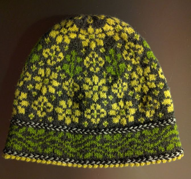 Easter lily hat #knitting #pattern #hat #fair #isle