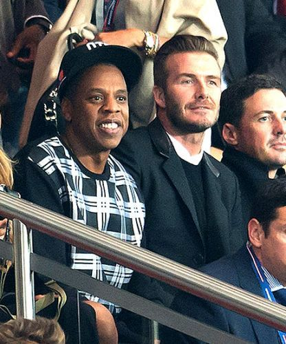 David Beckham watches Jay Z watch soccer — and it's hilarious