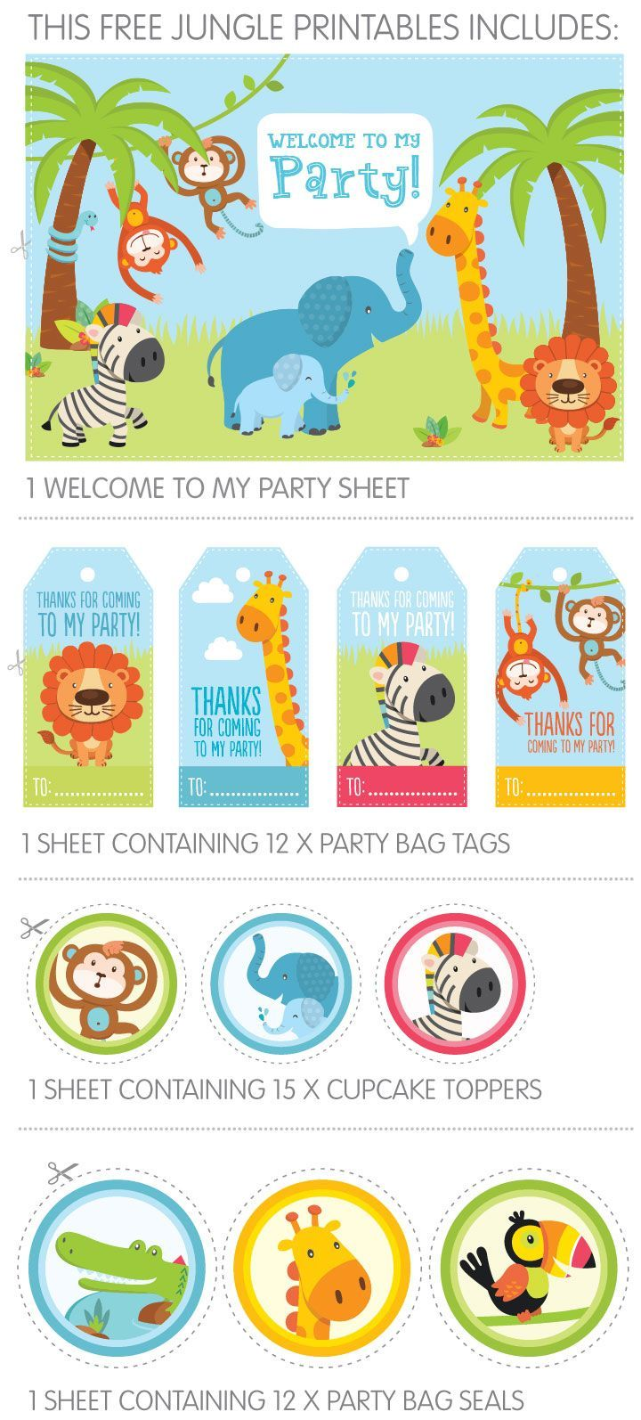 171 best free birthday party printables images on pinterest
