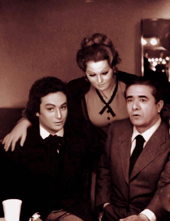 Giuseppe Di Stefano con José Carreras e Katia Ricciarelli (photo edited by G.Mascellaro)
