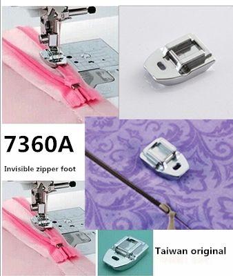 Domácnosť Šijací stroj Časti pätku HM-7306 Neviditeľný Zip Patka pre speváka brat zmäkčenie vody Juki Toyota