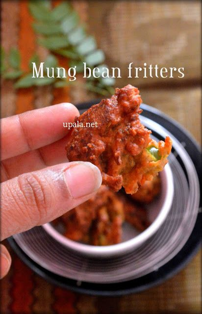 Mung bean fritters with left over pesarattu batter  http://www.upala.net/2015/12/mung-bean-fritters-with-left-over.html