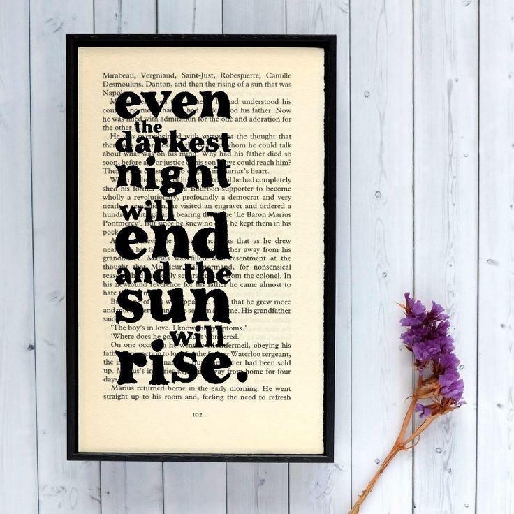 Plakát v dřevěném rámu Les Misérables Sun | Bonami