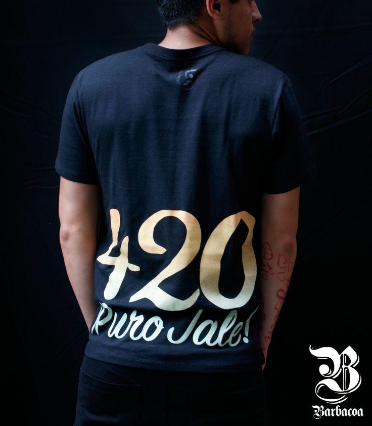 "Playera ""420 Puro Jale"", Barbacoa Mx. #streetwear #style #tee #cannabis #purojale #purogallo #weed #420 #men #outfit #fashion #hechoenmexico #puracalle"