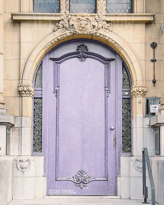 Lavender Door, Paris, France, Lilac Color, Light Purple, Soft Purple, Pastel Lavender Color, Home Decor Art