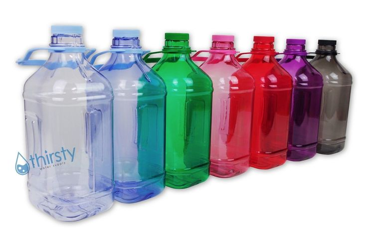 Half Gallon Water Bottle Handle Drinking Gym Canteen Jug Container Colors 64 Oz