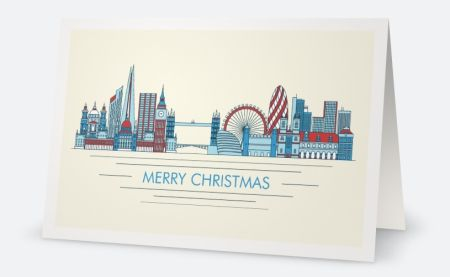 Why You'll Love Cream London Horizontal Folded Christmas Cards - 117 mm x 182 mm