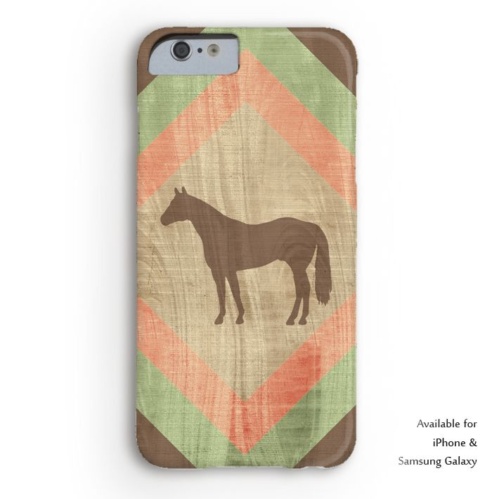 Southwestern Style Horse Lover Phone Case - cute equestrian iphone cases - stylish quarter horses