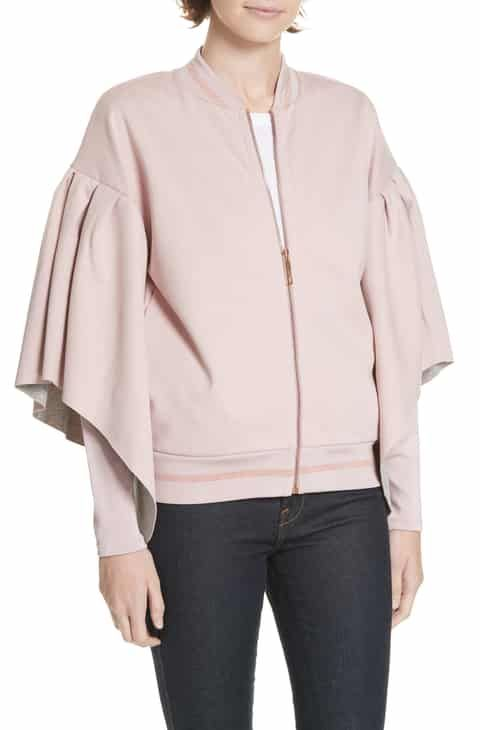 4a6b853431c3 Ted Baker London Amithie Cape Sleeve Bomber Jacket 2019 in 2019 ...