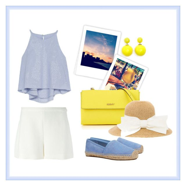 """Summer outfit yellowlightblue"" by chiara-arduino on Polyvore"