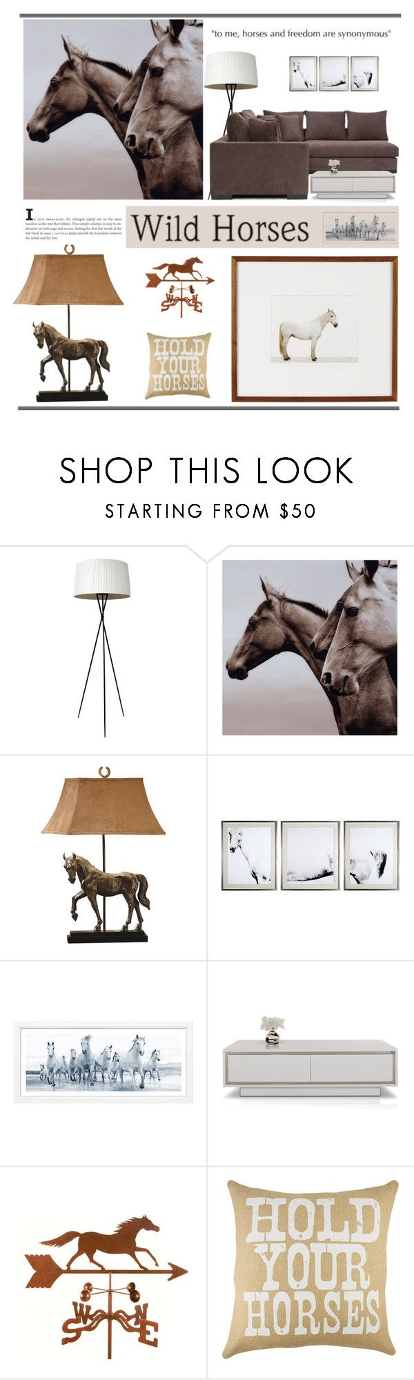 """""""Wild Horses"""" by marina-volaric ❤ liked on Polyvore featuring interior, interiors, interior design, home, home decor, interior decorating, Stilnovo, Universal Lighting and Decor, Natural Curiosities and William Stafford"""