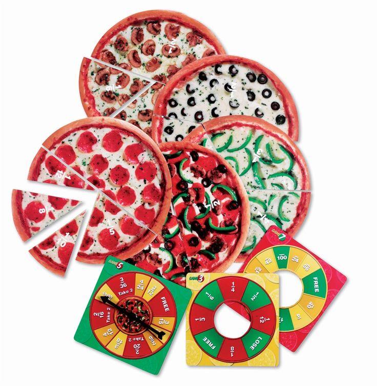 Ces 59 tranches de pizzas abordent les fractions en privilégiant l'expérimentation ludique. Ces 7 jeux de difficulté croissante permettent de manipuler les concepts : estimation visuelle des fractions, addition de fractions, équivalences, dénominateurs, réduction des fractions… Contient 11 pizzas en carton. Dès 6 ans.