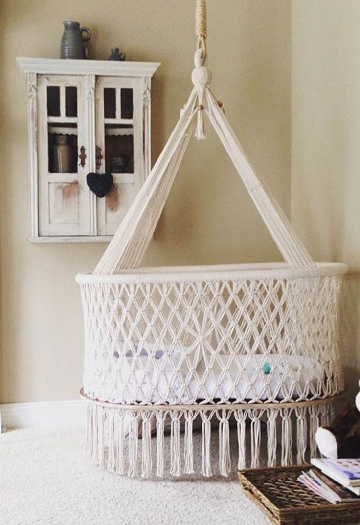 Baby crib for sale manila - Macrame Hanging Cradle Hangahammock On Etsy