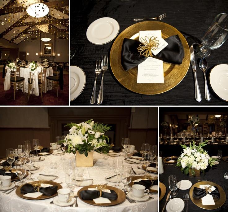 Gorgeous Gold Black White New Years Eve Wedding At Kalamazoo Country Club Planning