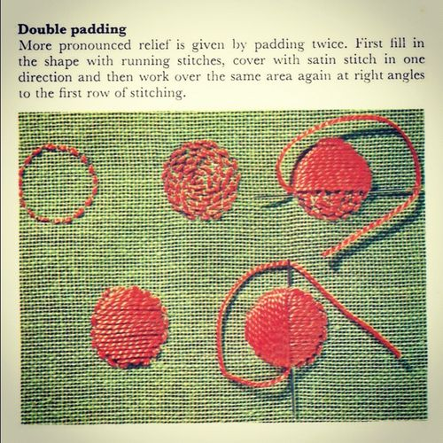 Best embroidery stitches raised images on pinterest