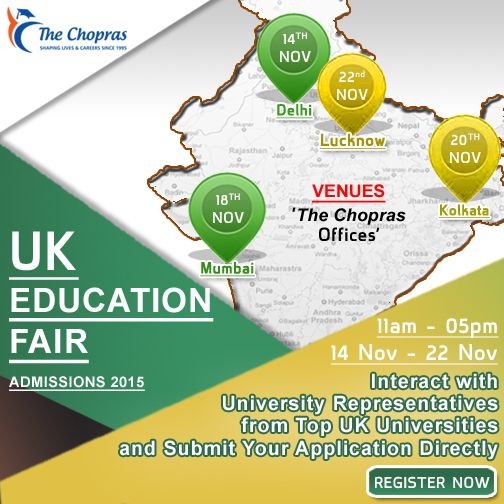 Register to visit UK Education Fair: www.thechopras.com/uk-education-fair #uk #studyinuk #educationfair #thechopras