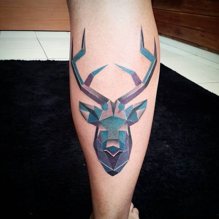 Animal Geometric Color Tattoo