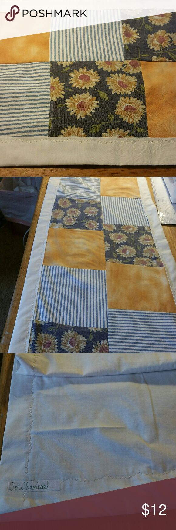 Table runner HANDMADE quilted 100% cotton coordinating fabrics Sewdenise Other