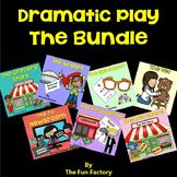 Dramatic Play ~Vet, Restaurant, Eye Dr., Airport, Newsroom Each theme contains: • A Lap Book ~ for reading aloud, that introduces the children to the specific vocabulary for the unit • Name Badges ~ for the people that work at the various places (4 to a page) • Various Forms ~ for the children to write on such as pet information, prescription pad, appointment calendar, order form, customer's bill, passports, luggage tags, etc. • Thematic Word Cards • Suggestions For Anchor Charts