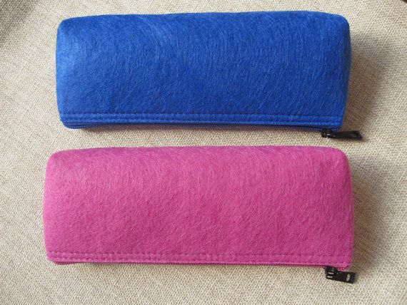 Felt pencil case/ felt pencil bag/ small pouch/ cosmetic pouch with zipper
