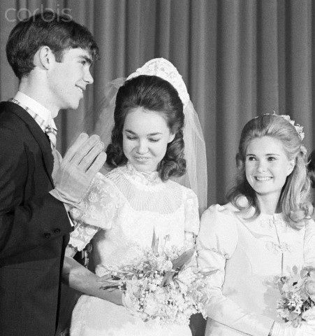 Former President Richard Nixon's youngest daughter, Julie, married David Eisenhower on December 22,