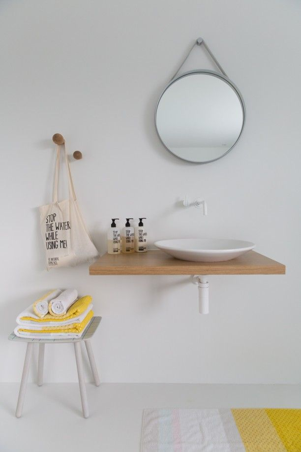 strap mirror by hay stool by karimoku brands available at master meubel turnhout