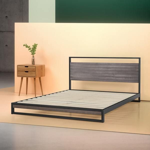 Suzanne Metal And Wood Platform Bed Frame In 2020 With Images