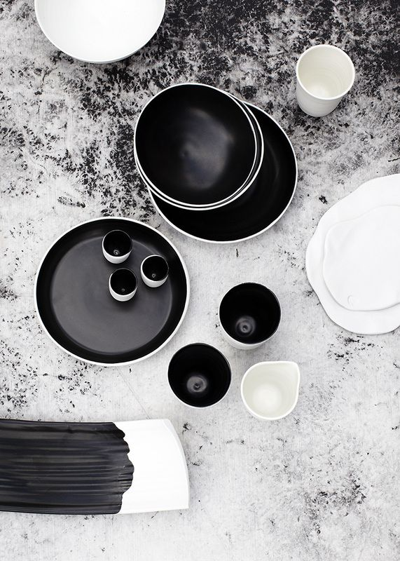 ★: Andrei Davidoff, Black And White, Interiors Design, 47Parkavenu Blackwhit, Tableware Design, Black White, Matte Black, Design File, Ceramics Tableware
