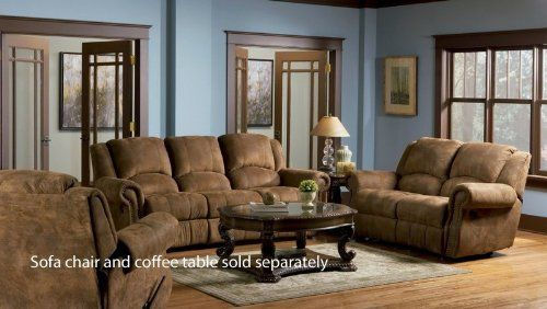 2Pc Recliner Sofa Set Nail Head Trim Distressed Brown Microfiber