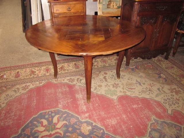 52 inch round parquet top table 18th century for the for Round table 52 nordenham