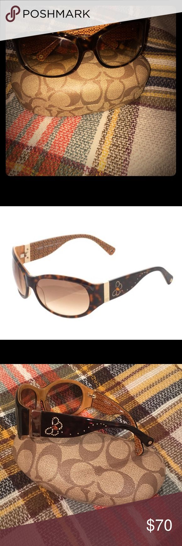 Just frames for glasses - Womens Coach Suzie Tortoise Sunglasses Womens Coach Tortoise Frame Sunglasses With Slight Gradient Lenses