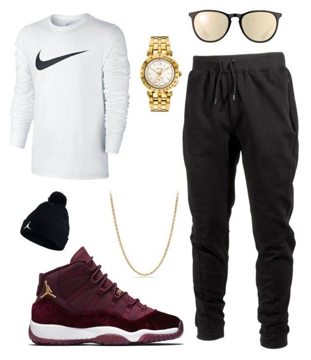 """Eye catcher"" by killakeke on Polyvore featuring Ideology, NIKE, David Yurman, Versace, Ray-Ban, men's fashion and menswear"