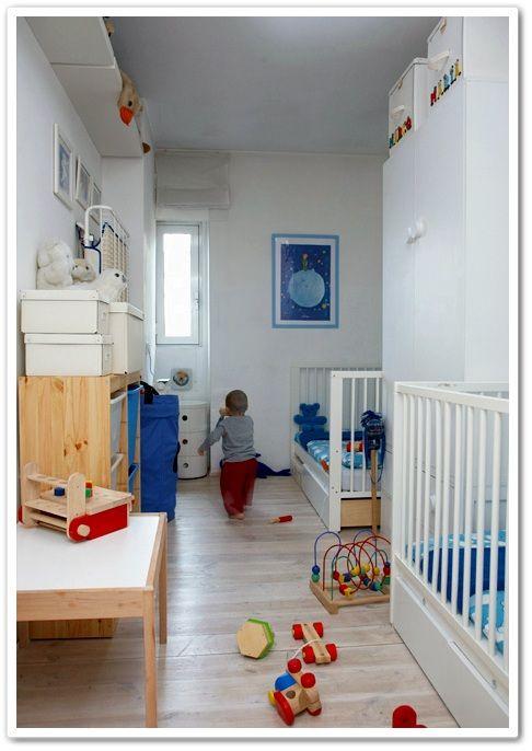Un dormitorio para dos con muebles de ikea habitaciones - Habitacion ninos ikea ...