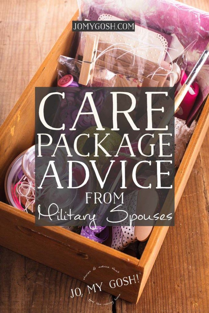 Love this advice from military spouses who have sent lots of care packages!