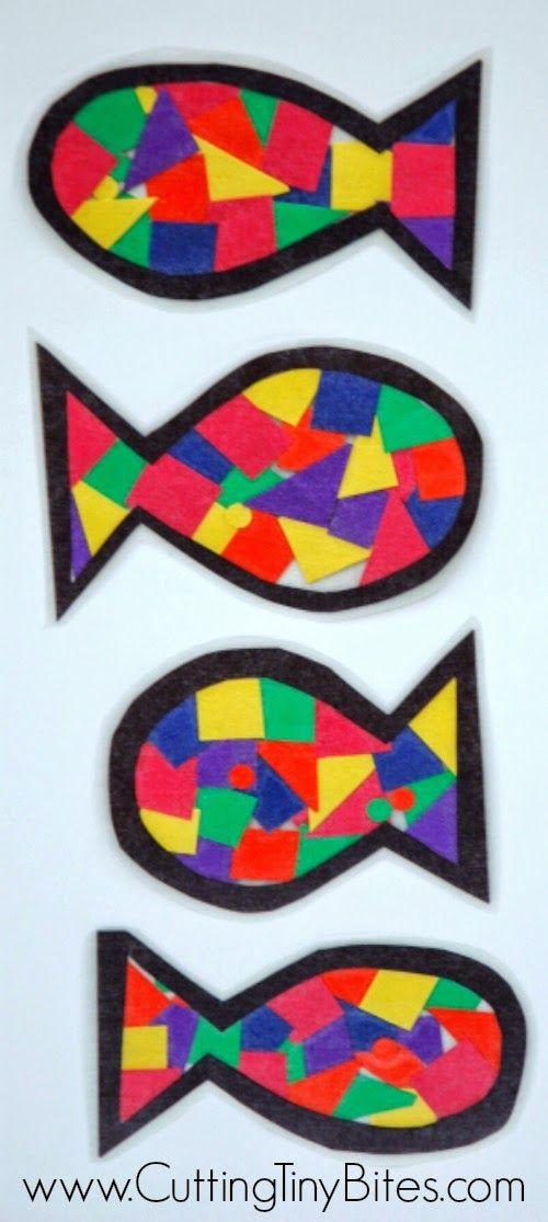 Rainbow Fish Craft. // Manualidad de peces de colores
