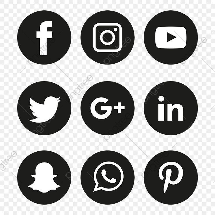 Social Media Icons Set Logotipo De Vetor Illustrator