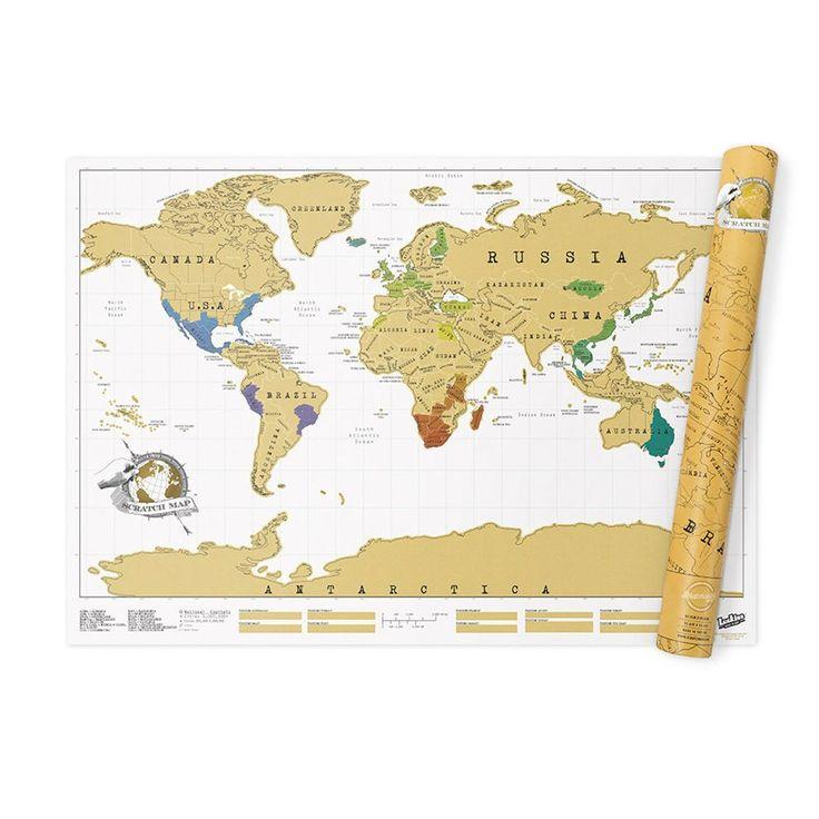 Prachtige reizen gemaakt? Met de Luckies Scratch Map kan elk land opengekrast worden op de kaart. Het eindresultaat is een prachtige wereldkaart voor op de wand. De niet open gekraste landen zijn natuurlijk inspiratie voor toekomstige reizen!