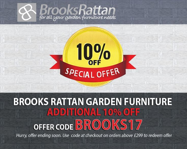 offer 10 discount on all rattan garden furniture use following code to redeem the