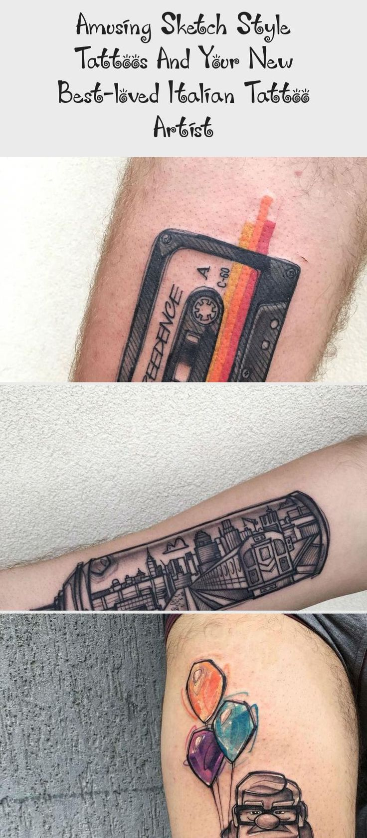 Amusing sketch style tattoos and your new bestloved