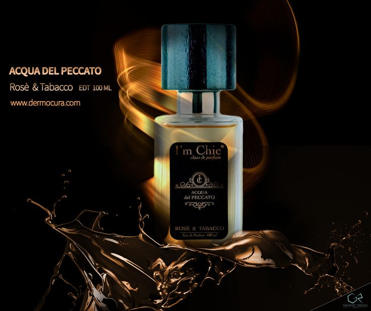 GR Graphic and Web Design for I'M CHIC PARFUM - Rosè & Tabacco