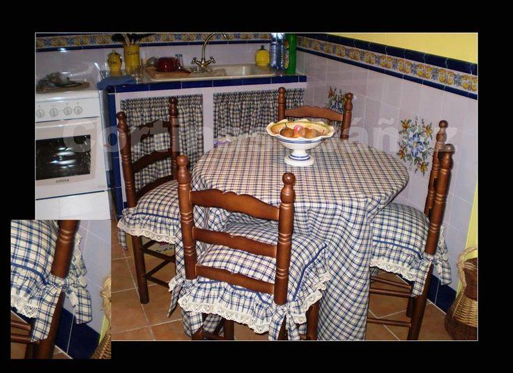 68 best var en tela sabanas funda sillas manteles - Cortinas para casas rusticas ...