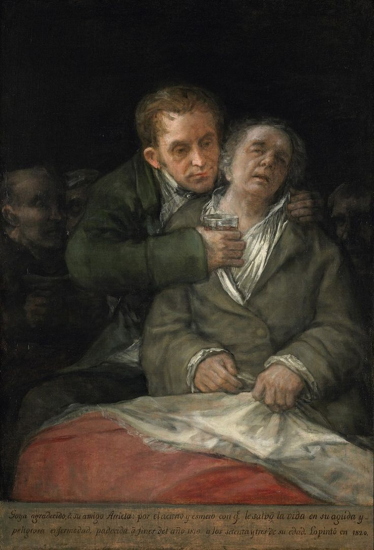 Francisco de Goya, Self Portrait with Doctor Arrieta, 1820