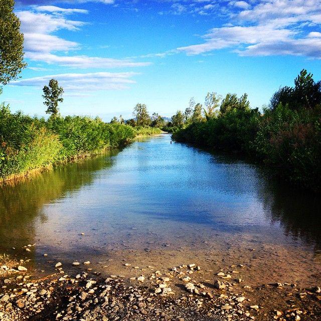 The river Era near Peccioli  http://www.valderatuscany.com/peccioli/ #valdera #tuscany #pisa