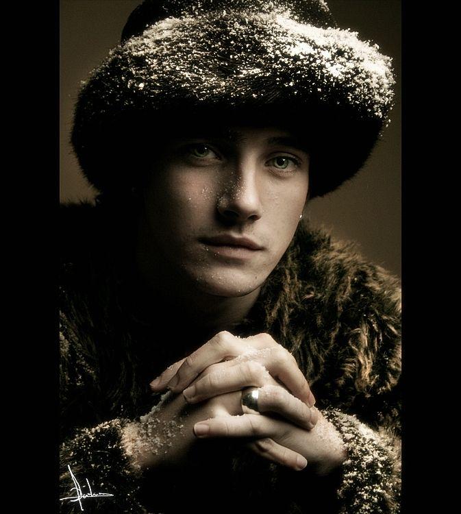 handsome russian man in fur