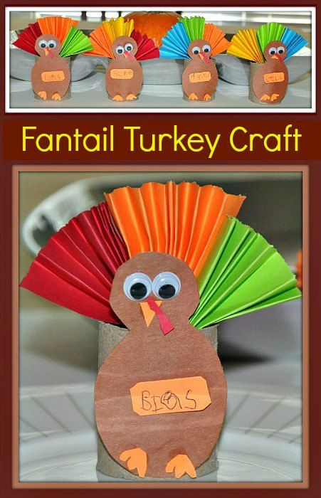 Thanksgiving Toilet Paper Roll Turkey Craft