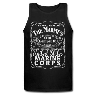 USMC Jack Daniels Old #7 Tank Top   Spreadshirt   ID: 12689437 LOVE THIS!!!!!
